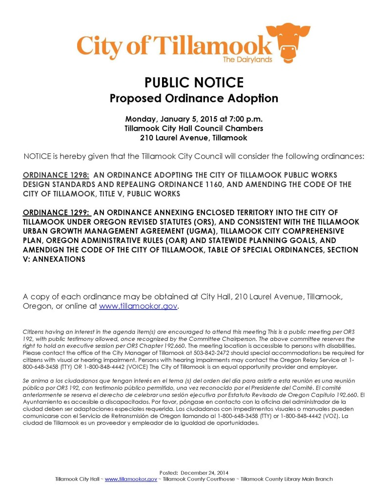Public Notice of Ordinance Consideration3