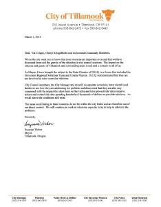 Mayor regarding smell 3.1.2015