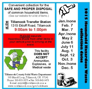 2015 Hazardous Waste Dates