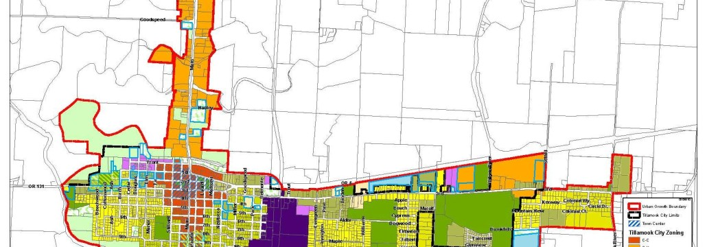 Proposed Tillamook Zoning Map 2015 for DLCD
