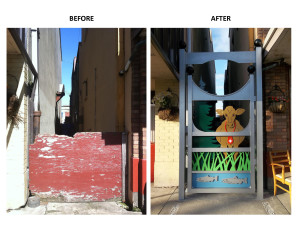 Alley Before and After