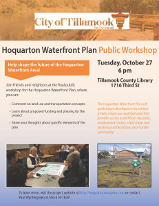Hoquarton Area October Public Workshop flyer 10.14.15