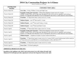 City Construction Projects - March-April
