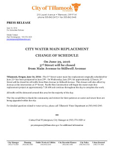 Press Release Water Main Replacement 6-29-2016