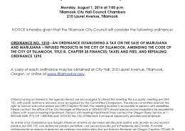 Public Notice of Ordinance Consideration