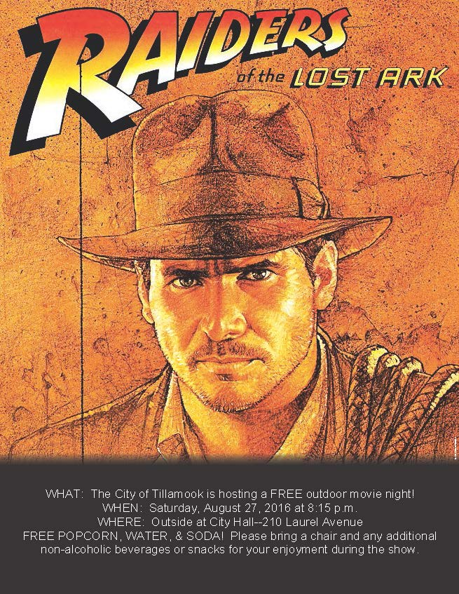Indiana Jones Outdoor Movie Flyer